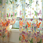 1PC Butterfly Sheers Curtains Voile Tulle Door Window Curtain Scarf Valance USA