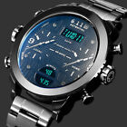 Men's Digital Sports Wrist Watch Large Face Electronics Military Outdoor White