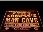 Name Personalized Custom Man Cave Football Bar Beer Neon Sign hang sign home