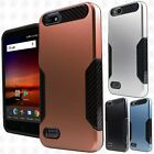 For ZTE Blade Vantage Slim HYBRID Carbon Trim Hard Protector Case Phone Cover
