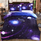 3D Galaxy Luxury Duvet Cover Pillow Cases Single/Double/King Size Bedding Sets