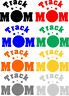 Track Mom Version 2 Exterior Window Car Decal Different sizes and Color