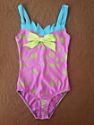 New! WOMENS COLORFUL RAVE FESTIVAL DOTS ONE PIECE SWIMWEAR ONE SIZE