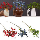 Decorative Blueberry Fruit Artificial Flower Arrangement Wedding Home Plant