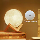 3D Printing Moon Lamp Moonlight USB LED Night Lunar Light Touch Color Changing <br/> US Stock! Perfect Gifts! 3 Colors Changing! Multi-Size!