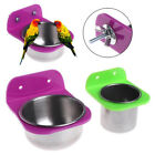 Stainless Steel Food Water Bowl Bird Feeder For Crates Cages Coop Dog Parrot MAD