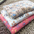 Pet Small Large Paw Print Cat Dog Puppy Soft Blanket Bed Cushion Coral Cashmere,