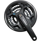 Shimano FC-M311 Altus square taper chainset with chainguard (Size Options).