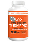 Turmeric Curcumin 1000 mg Qunol Ultra High Absorption Extra Strength Softgels <br/> Patented Water and Fat Soluble for Inflammation