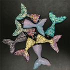 5/10pc Mixed Resin Mermaid Tail Glittery Charm Pendant Diy Earrings/necklace