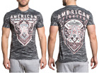 AMERICAN FIGHTER Men T-Shirt LOCKPORT Tiger GREY CAMO Athletic Biker Gym UFC $40
