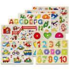 Wooden Alphabet Jigsaw Puzzle Toy Children Kids Learning Educational Gifts US