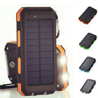 Waterproof 8000mAh Solar Power Bank 2 USB Battery Charger Case For All Mobiles