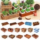 Desk Storage Box Wooden Planter Succulent Plant Pot Herb Cactus Container