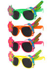 PACK OF TROPICAL HAWAIIAN GLASSES SUMMER FANCY DRESS FLORAL SUNGLASSES BULK LOT