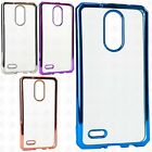 For LG Fortune 2 Chrome TPU Gel Protector Hard Skin Case Phone Cover Accessory