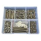 G304 Stainless M5 Pan Phillips Machine Screw Nut Washer Assortment Kit #53