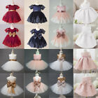 Baby Girl Toddler Party Tutu Dress Pageant Wedding Birthday Princess Christening