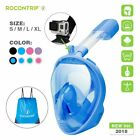CA Anti-Fog Swimming Diving Full Face Snorkel Scuba Mask Surface for GoPro