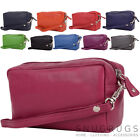 Ladies / Womens Soft Leather Large Travel / Holiday Cosmetic Pouch / Bag