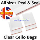 Clothing T-Shirt Clear Cellophane Cello Bags Display Garment  Peel