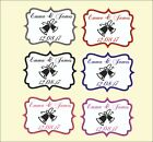 Personalised Wedding Bells Stickers/Labels Envelopes Seals in 3 sizes 6 colour
