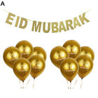 10PCS BALLOONS AND 1PC GLITTER PARTY BANNER EID MUBARAK MUSLIM RAMADAN DECOR KIN