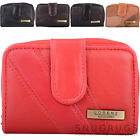 Ladies / Womens Soft Leather Patchwork Bi-Fold Purse / Money / Coin Holder