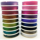50m Reel of Tiger tail - choice of colours & thickness - steel beading wire