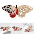 1*Vintage Fashion Multicolor Crystal Cute Butterfly Brooch Women Pin