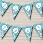 Blue Grey Camouflage Personalized Birthday Party Bunting Flag Banner