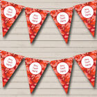 Red Orange Camouflage Personalized Birthday Party Bunting Flag Banner