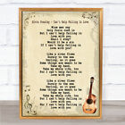 Elvis Presley Can't Help Falling In Love Song Lyric Quote Print