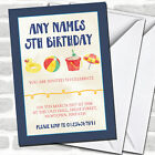 Beach Ball Swimming Children's Birthday Party Invitations