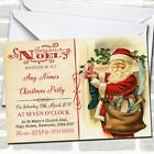 Noel Vintage Postcard Father Christmas Christmas Party Invitations