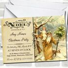 Noel Vintage Postcard Carrying Child Christmas Party Invitations