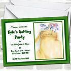 Green Golfing Golf Party Invitations