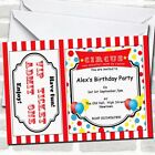 Spoof Circus Ticket Red Theme Birthday Party Invitations
