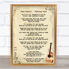 Chasing Cars Song Lyric Vintage Quote Print