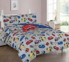 Kids/Teens Multi Race Racing Cars Bed In a Bag COMFORTER Red Car Toy Sheet Set