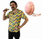 PABLO ESCOBAR COSTUME WITH INFLATABLE BELLY ADULT MENS FANCY DRESS