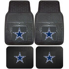 NFL Dallas Cowboys Car Truck Rubber Vinyl Heavy Duty All Weather Floor Mats