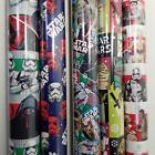 Wrapping Paper Roll Christmas 40 Sq Ft Star Wars Storm Troopers Chewbacca Yoda $9.99 USD on eBay