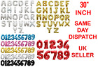 "Gold & Silver 30"" Alphabet Letter Number A-Z 0-9 Foil Air Balloons NAME PARTY"