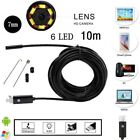 2 IN 1 Micro USB Waterproof Borescope Endoscope Inspection Camera For Android PC