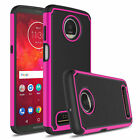 For Motorola Moto Z4/Z3 Play Hybrid Phone Case / Tempered Glass Screen Protector
