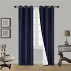 1 SINGLE PANEL FOAM LINED SOLID BLACKOUT LIMIT TIME OFFER CLOSEOUT NAVY BLUE