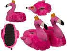 NOVELTY FLAMINGO WITH CROWN SHAPED SUPER SOFT PLUSH COSY SLIPPERS