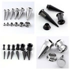 8-00G Surgical Steel Ear Taper Stretcher Kit Expander Plug Set Piercing Gauges
