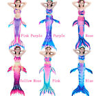 Kids Girl Mermaid Tail Bikini Sets - Swimmable Swimwear Swim Cosplay Costumes